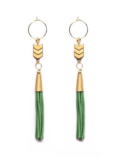 Amulette Jewel Küpe Yeşil